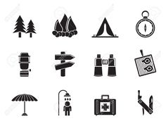 camping lantern silhouette - Google Search