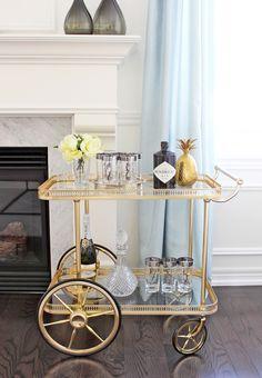 Vintage Bar Cart Styling - AM Dolce Vita