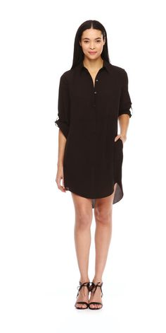 FREE SHIPPING on orders over $50. FREE RETURNS in store. Make it modern in a classic shirt dress in an understated shift silhouette.
