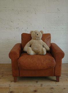 Childs leather sofa- TRUCK 132. FK SOFA KIDS