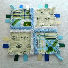 John Deere Rag Lovey Ribbon