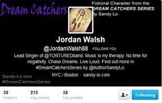Follow fictitious character Jordan Walsh on Twitter!   http://twitter.com/jordanwalsh88  #characters #roleplay #DreamCatchersSeries #SandyLo #iHeartJordan