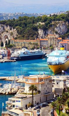 Beautiful harbor of Nice, France
