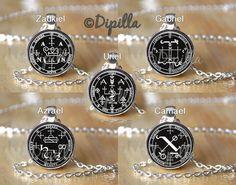 Archangel Seal Pendant for Haniel Camael Gabriel Michael