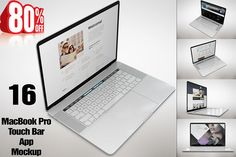 "Bundle 15"" MacBook Pro Touch Mockup by mockupstore on @creativemarket"