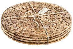 Cotton Napkins, Napkins Set, Basket Weaving, Hand Weaving, Pine Needle Crafts, Charger Plates, Placemat Sets, Plate Sets, Terrace