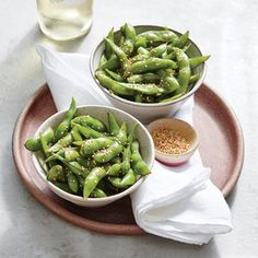 Enjoy a favorite bar snack at home in a matter of minutes. Salty and satisfying, edamame is a nutrient-dense, between-meals bite you can feel good about. Look for whole edamame pods in the freezer section of your grocery store