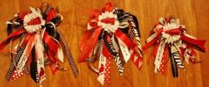 Homecoming Wristlet Mum   $28 each These were done for members of a cheer squad.
