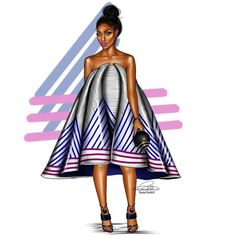 Last but not the least...#ForTheLoveOfStripes #FashionIllustration