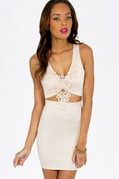 In Too Deep V Bodycon Dress $36