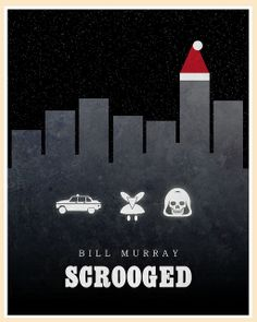 Scrooged (1988) - Minimal Movie Poster by Jon Glanville ~ #jonglanville #minimalmovieposters #alternativemovieposters