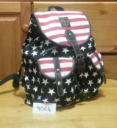 Stars and stripes backpack Striped Backpack, Stripes, Backpacks, Handbags, Stars, Cotton, Accessories, Fashion, Moda