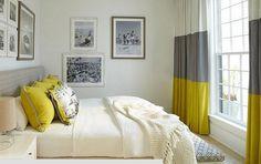 Zarifliği Simgeleyen Gri – Sarı Yatak Odası Modelleri