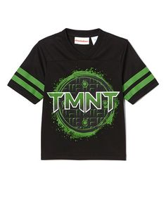 Another great find on #zulily! Black & Green 'TMNT' Football Jersey Tee - Kids by Teenage Mutant Ninja Turtles #zulilyfinds