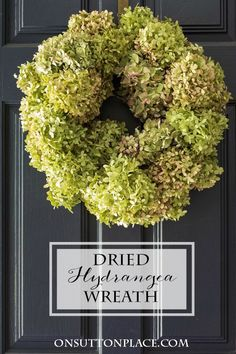 Dried Hydrangea Wreath Tutorial | Easy directions with pictures to make your own wreath. Can be used with dried or faux hydrangeas.