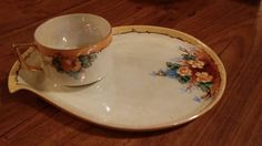Vintage Tea Cup with Matching Snack/ Dessert/ by hoitytoityhome