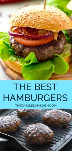 The Best Classic Burger Recipe - Perfectly seasoned juicy homemade hamburgers. This easy recipe only needs a few ingredients. The Best Classic Burger Recipe - Perfectly seasoned juicy homemade hamburgers. This easy recipe only needs a few ingredients. Best Hamburger Recipes, Best Burger Recipe, Ground Beef Recipes, Classic Burger Recipe, Juicy Beef Burger Recipe, Hamburger Patties Recipe, Hamburger Seasoning, Simple Burger Seasoning Recipe, Grilling