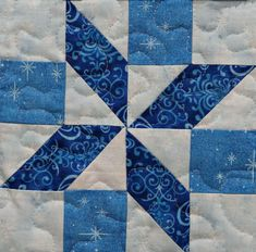 Pieced snowflake PDF easy quilt block pattern simple quick Are you a quilting novice in search of a simple quilt block pattern? Do you need a fast and easy quilt block for your next creative endeavor? These scrappy 7 Quilt Square Patterns, Patchwork Quilt Patterns, Pattern Blocks, Easy Quilt Patterns Free, Triangle Quilt Pattern, Pattern Ideas, Quilt Blocks Easy, Easy Quilts, Half Square Triangle Quilts