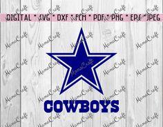 SVG DALLAS COWBOYS star and logo digital vector by MamaCraft4You