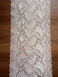 """white lace table runner, 8"""" wide,  wedding table runner ,  lace table runner,   wedding runners,  lace table runner, R15112201"""