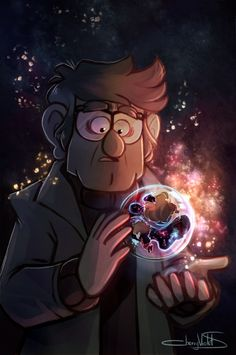 Grunkle Ford and the sphere with the weakened part of our universe inside...very strange and cool