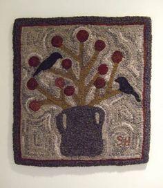 Blackbirds & Berries Rug (design by Jan Patek)