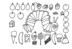 Eric Carle's art is distinctive and instantly recognizable. Why not introduce your kids to Eric Carle with these 10 free printable eric carle coloring pages The Very Hungry Caterpillar Activities, Caterpillar Book, Hungry Caterpillar Party, Caterpillar Preschool, Eric Carle, Colouring Pages, Coloring Pages For Kids, Free Coloring, Coloring Rocks