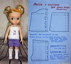 Выкройки пижам для кукол Disney Animators / Выкройки одежды для кукол-детей, мастер классы / Бэйбики. Куклы фото. Одежда для кукол