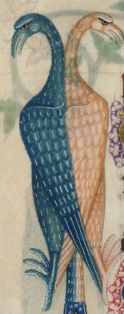 Detail from The Luttrell Psalter, British Library Add MS 42130 (medieval manuscript,1325-1340), f187v