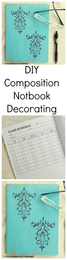 Take a regular old composition notebook and give it a MAKEOVER with this DIY.