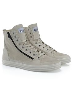 HOGANREBEL R141 High-top  sneaker in  leather with  suede inserts 8bebf873133