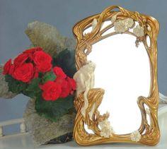 lustro z nimfą kwintesencja stylu secesyjnego