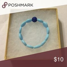 Mini Aqua blue chalcedony & Royal shamballa Brand new with gift box, only from the best, TrueCharma.com 💜 Accessories Jewelry