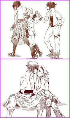 Sakura and Sasuke.....omg I love this! !