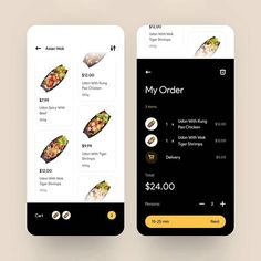 mobile ui/ux inspiration в Instagram: «Food delivery app⁣ by @serhiyozhibko 👏🏻⁣ ⁣ ⁣ 🦄 follow @uiuxmobile for daily inspiration⁣ 🦄 follow @uiuxmobile for daily inspiration⁣ 🏷 tag…» Chicken Udon, Kung Pao Chicken, Chicken Order, Tiger Shrimp, Mobile App Design, Mobile Ui, How To Order Starbucks, Delivery App, Apps