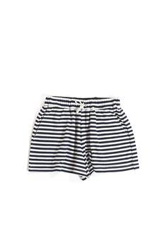 HUFFER KNIT JOGGER SHORT NAVY STRIPE Jogger Shorts, Joggers, Navy Stripes, Clothing Items, Me Too Shoes, Cool Outfits, Knitting, Skirts, Fabric