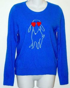 J.Crew Puppy Dog Large Sweater. Free shipping and guaranteed authenticity on J.Crew Puppy Dog Large SweaterSuper fun sweater from J Crew in royal blue wool b...