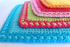 Free Crochet Pattern: My Poppet Washcloths