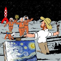 Vincent Van Gogh, Snoopy, Vans, Instagram, Gallery, Funny, Painting, Fictional Characters, Digital