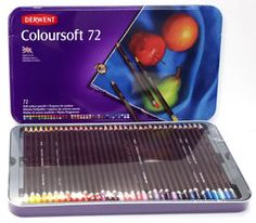 Derwent Coloursoft kynät ovat pehmeitä, samettisia erityisesti värittämiseen soveltuvia kyniä.