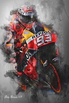 Dirt Bike Tattoo, Bike Tattoos, Gp Moto, Moto Bike, Marc Marquez, Moto Wallpapers, Motorcross Bike, Duke Bike, Motogp Valentino Rossi