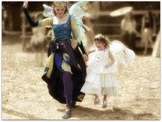 Flying with the fairy queen