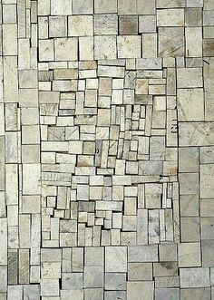 Rosalie Gascoigne - White Out, 1994 - Schnittholz auf Craftboard - 82 × 59 cm Wood Sculpture, Sculptures, Art Grunge, Art Sur Toile, Saw Wood, Mosaic Art, Stone Mosaic, Wood Wall Art, Textures Patterns