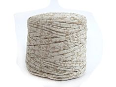 Spotted oatmeal bulky T-shirt yarn recycled t by ItchyToStitch