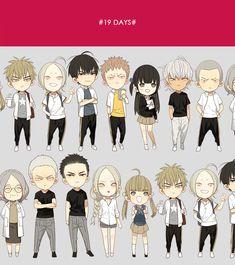 Old Xian's 19 days chibi character set 19 Days Characters, Chibi Characters, Good Manga To Read, Read Free Manga, Manga Boy, Manga Anime, Yuri Anime, Manhwa Manga, My Life Style