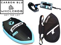 The Carbon Blu Handboard for Bodysurfing Whole Hog Package