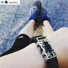 Such a cute #getbytten #Repost from @jayelahy! Thanks so much for sharing & keep the awesome pics coming everyone!! ・・・ 10k training with my new #bytten! #fitbit #flex #running