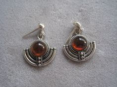 Vintage Sterling Silver Balinese Earrings With by BALIARTWORKS, $25.00