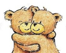 Heal an Anxious Body before an Anxious Mind I Love My Friends, My Best Friend, Hugs And Kisses Quotes, Worry Monster, Hug Images, Friends Hugging, Anxiety In Children, Love Bear, Bear Doll