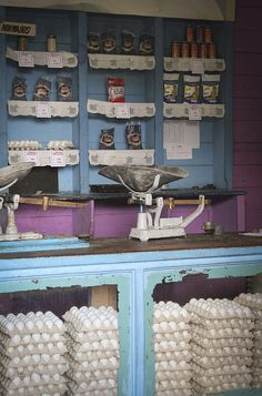 Varadero, Cuba~ a market place...wow eggs and more eggs...